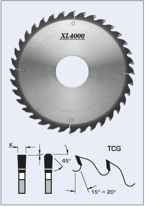 """S22302 12"""" x 1"""" bore- 36 Tooth Glue Line Rip Saw Blade by FS Tool"""