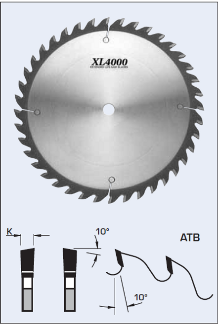 "S09300 12"" Cross Cut Saw Blade (ATB)"