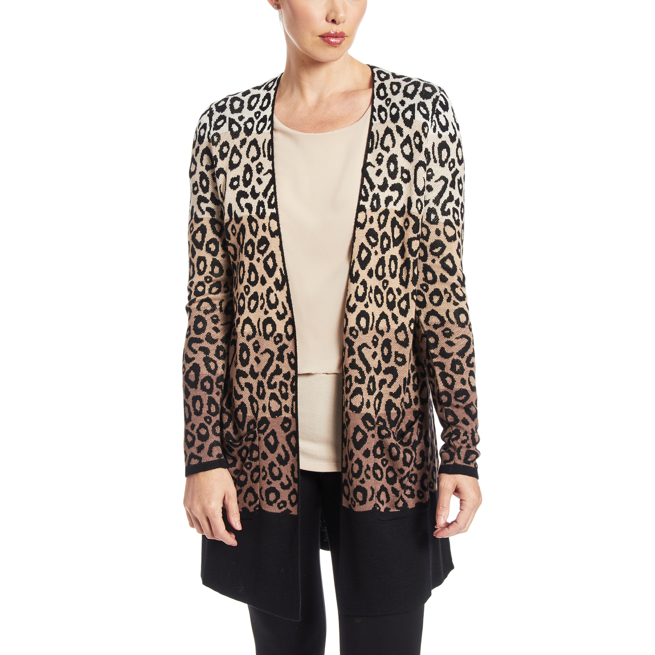 Two Pocket Duster in Animal Print
