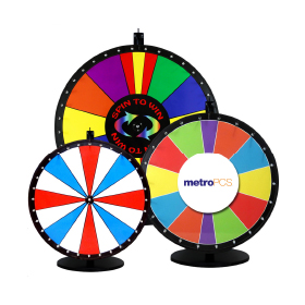 Spin the wheel to get prizes