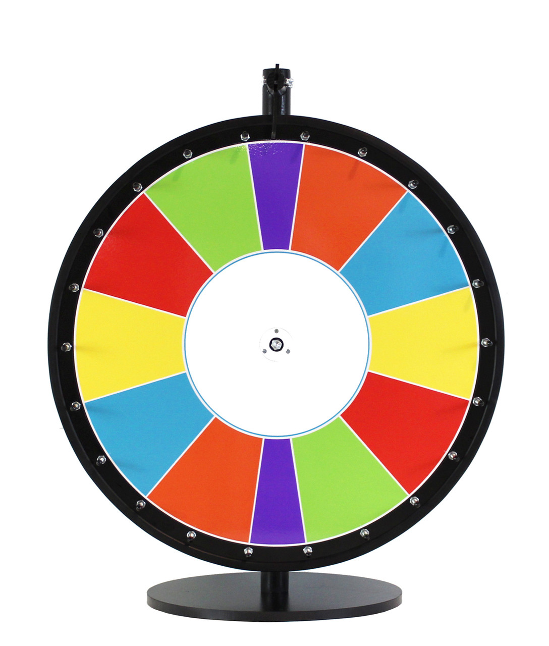 24 inch carnival colors with special sections color dry erase wheel
