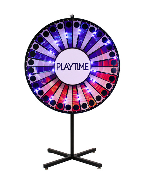 72 Inch Custom Lighted Prize Wheel Ac Power Spinning Designs
