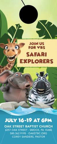 VBS Safari Theme - Door Hanger