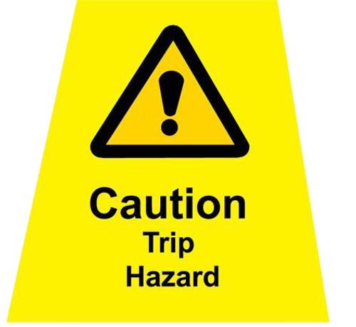 MINICONE Label TRIP HAZARD