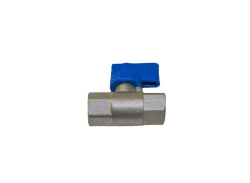 "Tap/Flow Controller Threaded F-F 1/4""- Brass/Steel Blue"