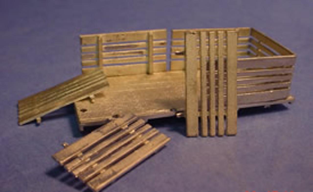 17 ft Heavy Duty Steel Deck Flatbed Body with Side Racks Kit