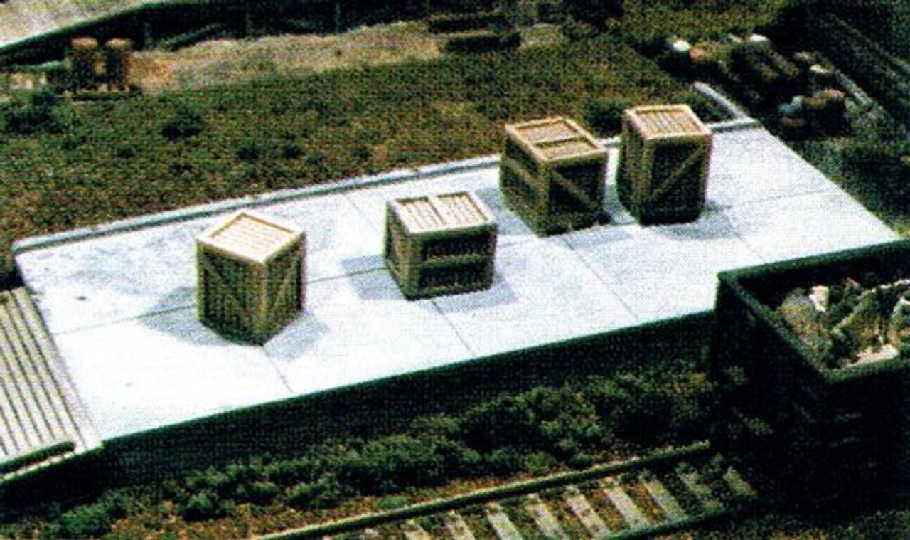 Large Concrete Loading Dock & Wood Ramp Kit
