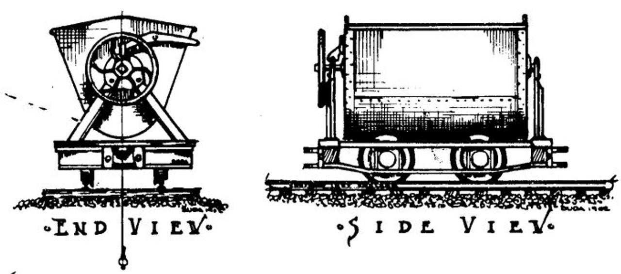 2 Foot Gauge 1900's Side Dump Mine Car Kit