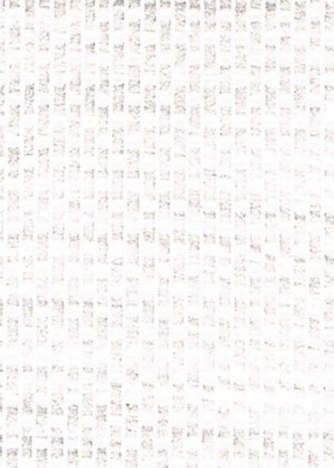 White Embossed Paving Brick Raised Raised Facing Paper