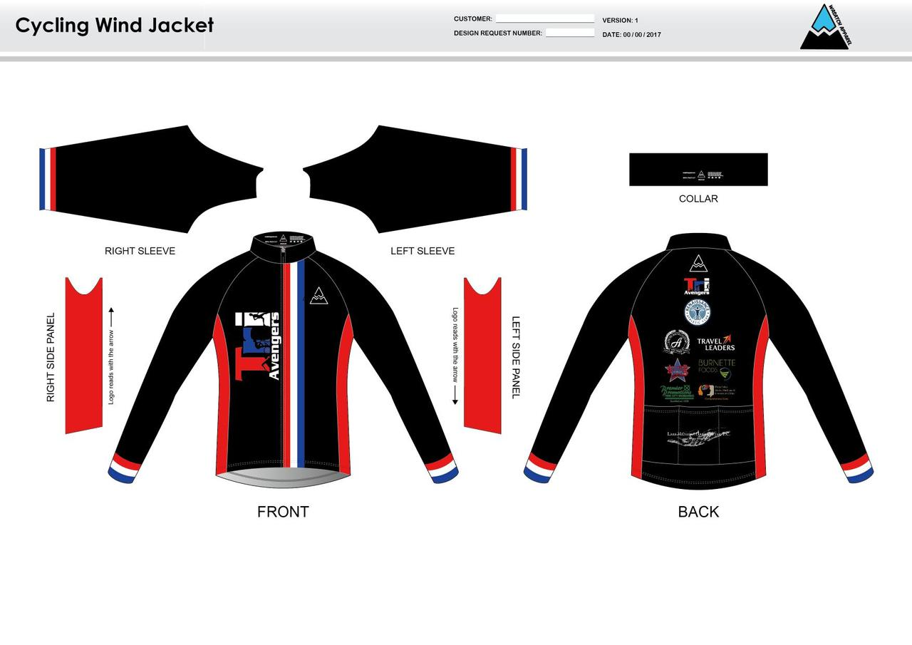 Tri Avengers Youth Wind Jacket - Wasatch Apparel 251482902