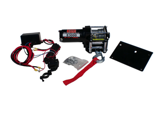 3,000 lbs. 12 Volt Electric winch, Uses Dynamic Braking