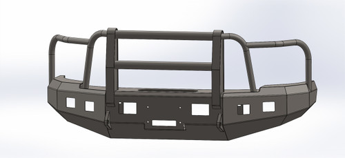 BUMPER WITH FULL GRILL GUARD FOR GMC 2007.5-2010, 2500-3500