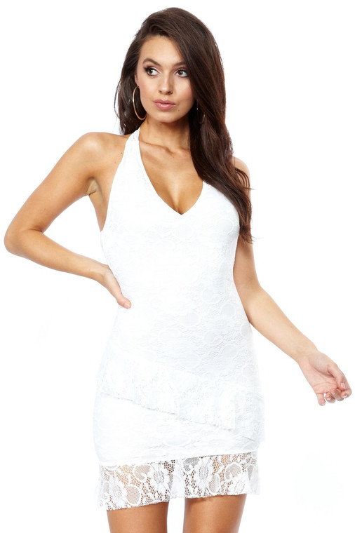 lace dress halter neck