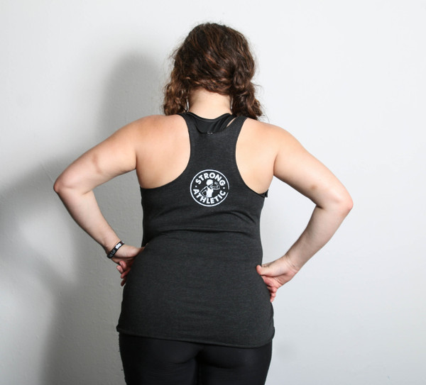 This is the back of the Strong Athletic Official racerback tank. You don't need to join the movement, because you are the movement.