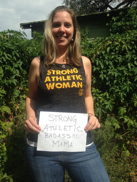Strong Athletic Mom
