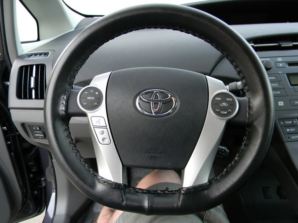 Wheelskins Genuine Leather Steering Wheel Cover for 2012-2015 Toyota Prius Plug-in