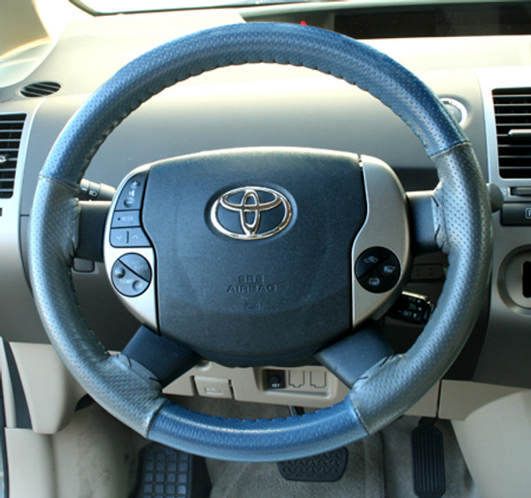 Wheelskin EuroPerf Sea Blue Perf-Grey Perf on 2004-2009 Toyota Prius