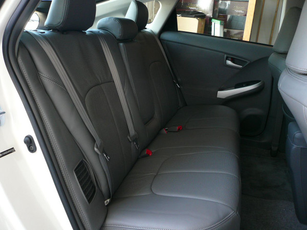 Clazzio Grey Leather for Prius - 2nd Row #2