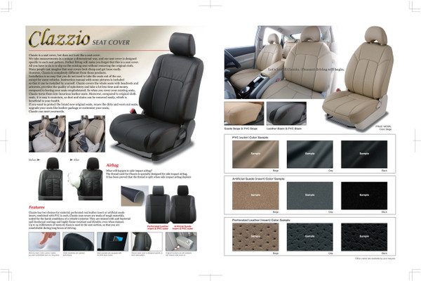 Clazzio Leather Seat Covers for 2012-2017 Toyota Prius c