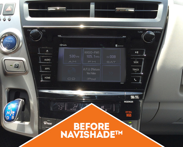 NaviShade on Prius v before