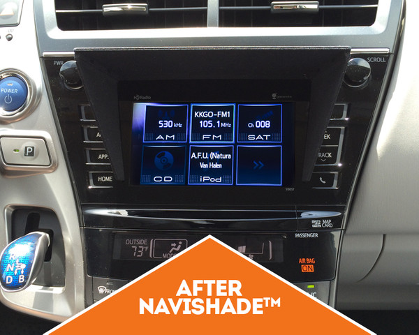 NaviShade on Prius v after
