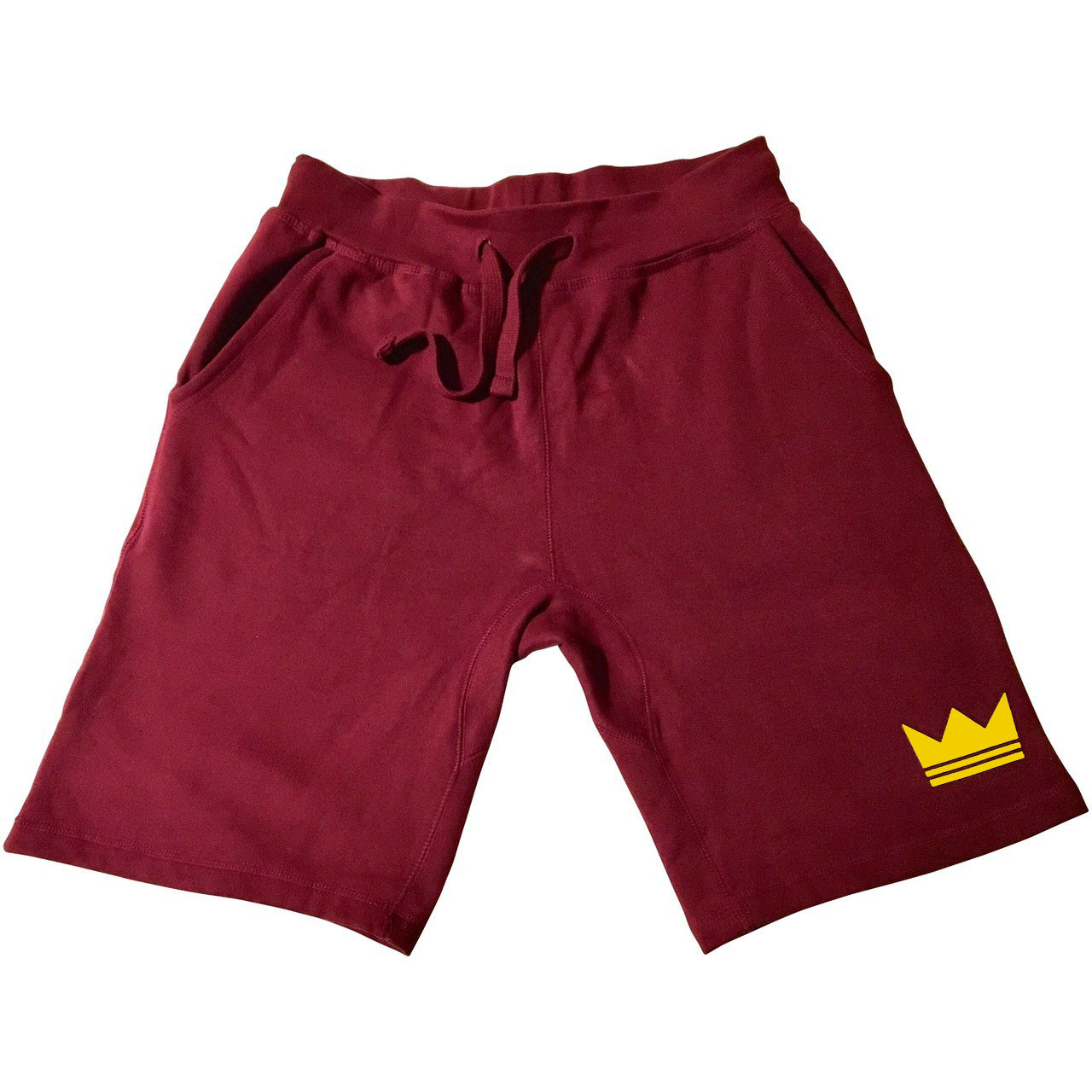 Onecrown Burgundy Jogger Shorts, Christian Streetwear Clothing