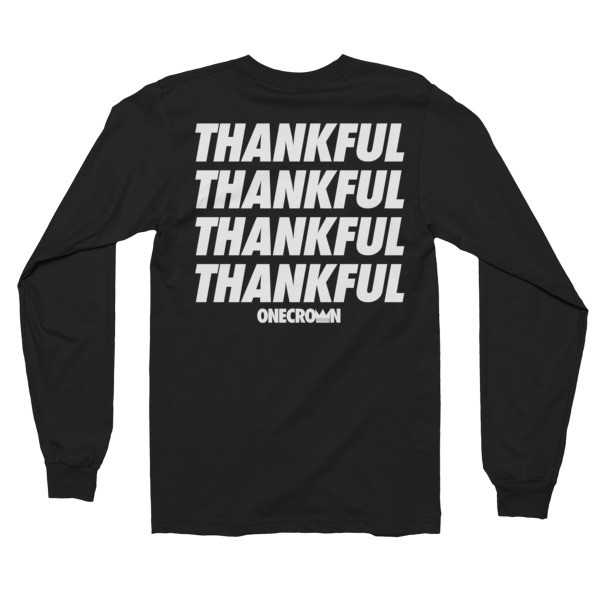 THANKFUL - LS Tee - Black