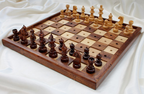 "New Release 33cm (13"") Chess Set for the Blind or Visually Impaired"