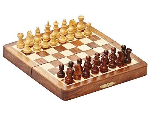"New Release Deluxe Folding Magnetic Travel Chess Set 18cm (7.0"")"