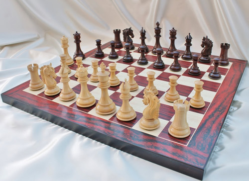 """Sir Galahad Knight Staunton Luxury Chess Pieces Set with 108mm (4.25"""") King in Rosewood"""