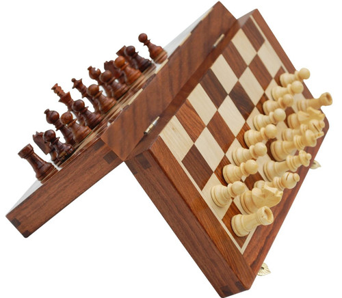"Deluxe Travel Folding Magnetic 30cm (12"") Chess Set"