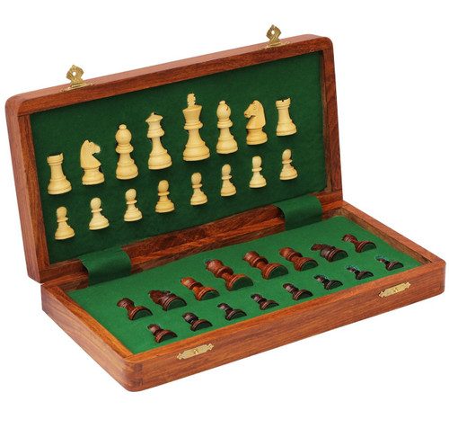 "New Release Deluxe Travel Folding Magnetic Chess Set 25cm (10"")"