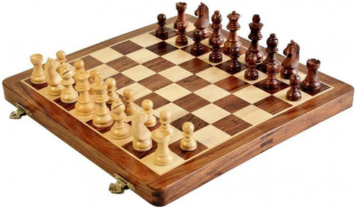 "Deluxe Travel Folding Magnetic 25cm (10"") Chess Set"