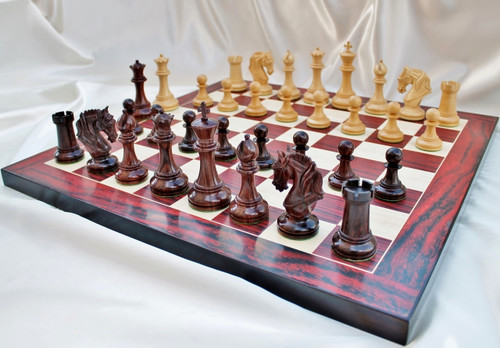 The Legendary Templar Knights Staunton Luxury Chess Pieces Set in Rosewood