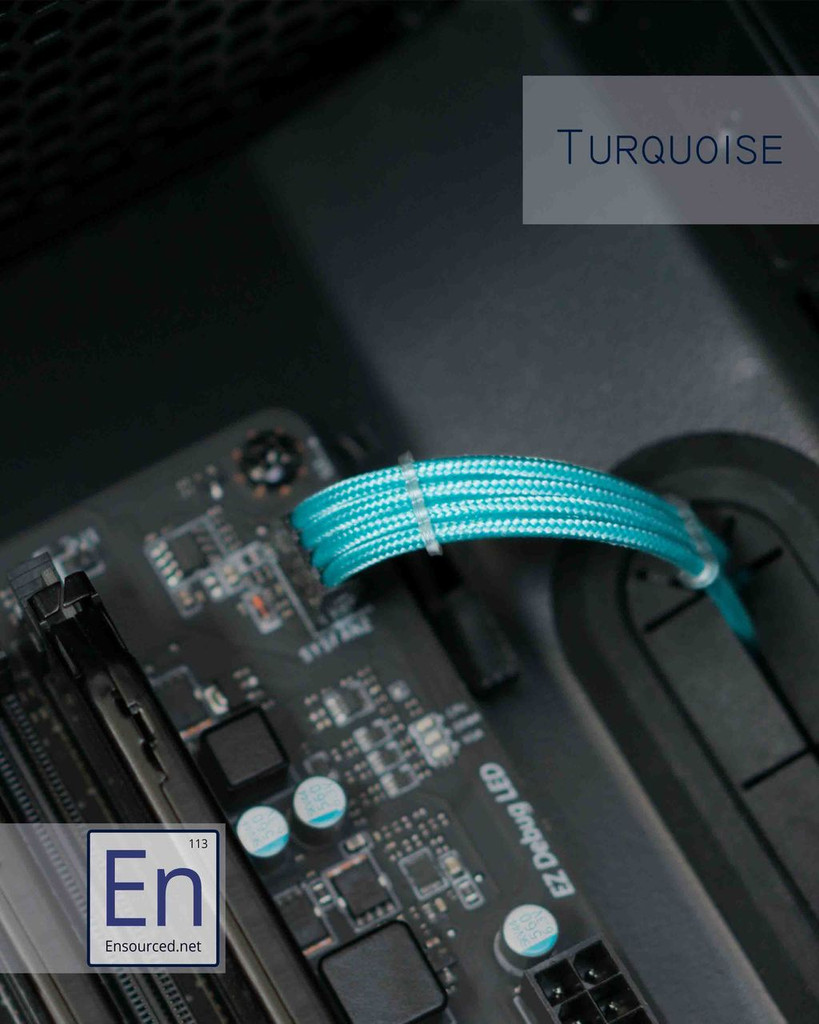 Turquoise Paracord Sleeved Fan Extension