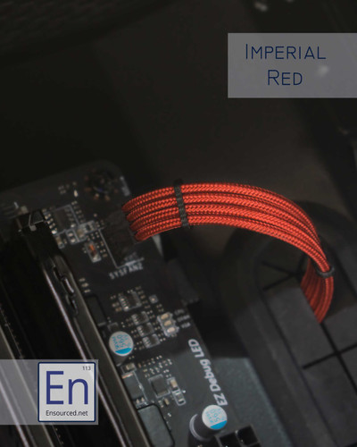 Imperial Red Paracord Sleeved Fan Extension