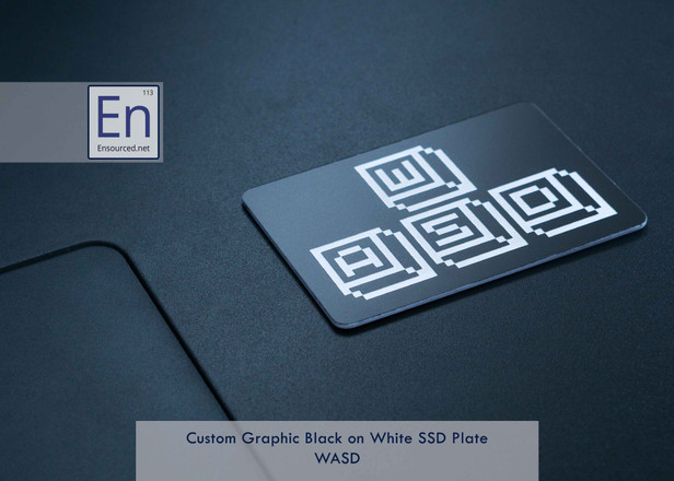 Black on White Custom Graphic SSD Plate | WASD