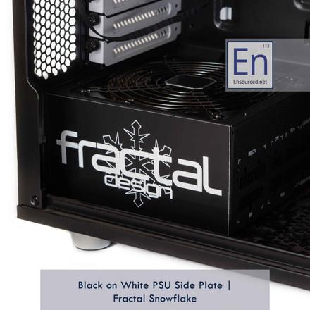 Black on White PSU Side Plate | Fractal Snowflake