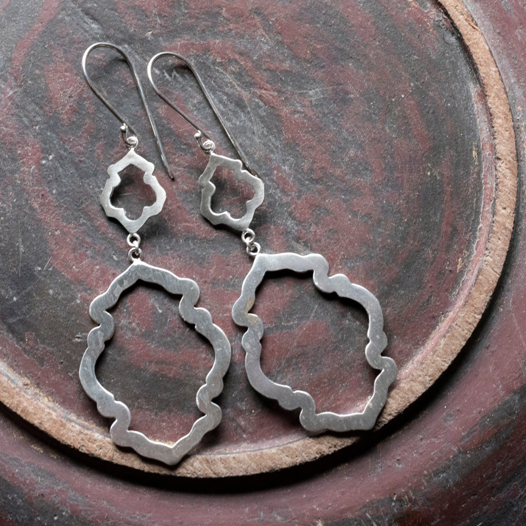 Peony Earrings No. 2 Patina