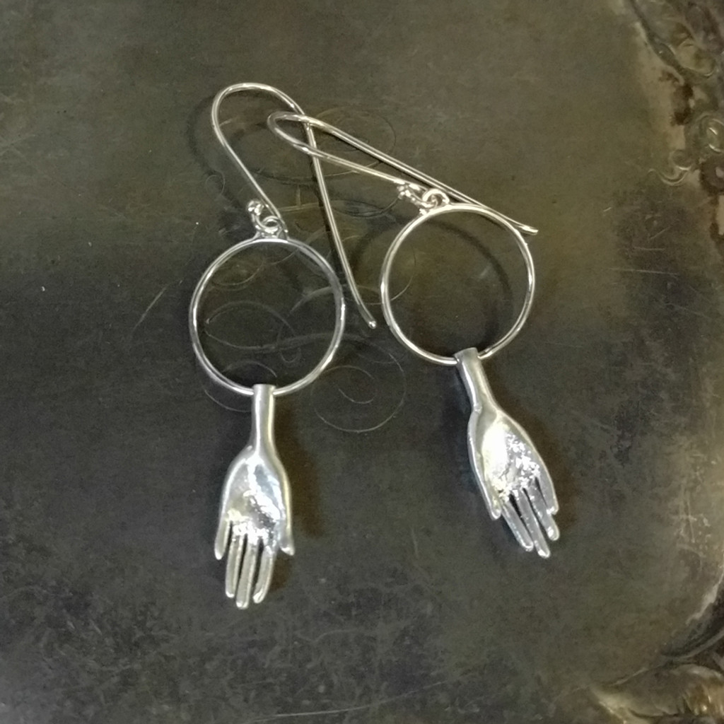 Hand Work Silver Earrings