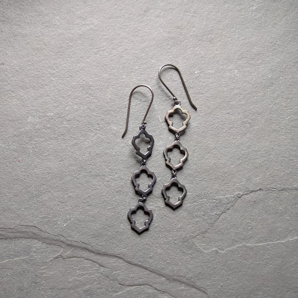 Lotus Earrings No. 3 Patina