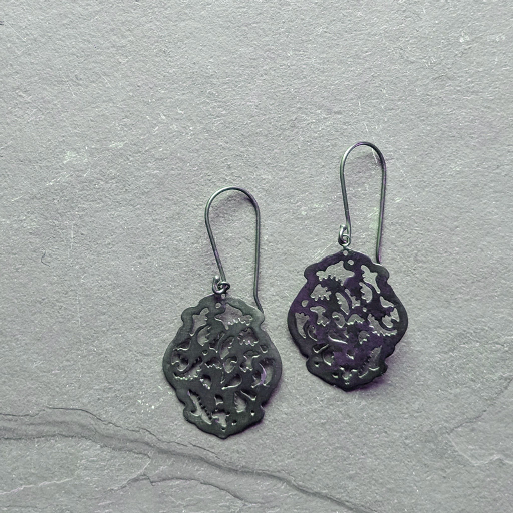 Acanthus Earrings No. 1 Patina