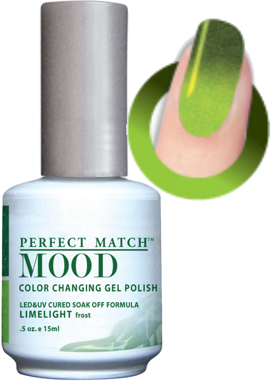 LeChat Mood Color Changing Gel Polish - MPMG42 LIMELIGHT (Frost ...
