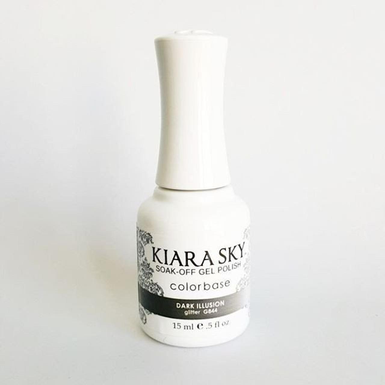 Kiara Sky Ombre Color Changing Gel Polish - G844 Dark Illusion .5oz ...