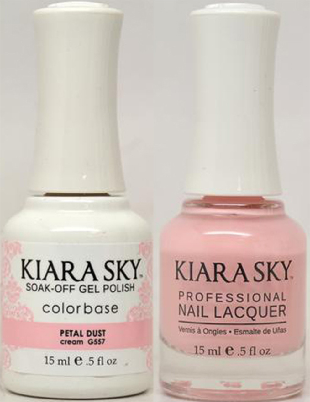 Kiara Sky Gel + Lacquer - G557 PETAL DUST - Princess Nail Supply