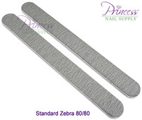 Princess Nail Files, 50 per pack - Zebra - Grit options