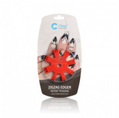 20% Off Chisel Nail Art - Zigzag Edger Red