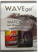 WaveGel Matching S/O Gel & Nail Lacquer - AURO METAL SAURUS  .5 oz  W160
