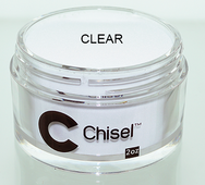 Chisel 2in1 Acrylic & Dipping 2 oz - Pink & White - CLEAR