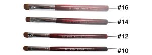 PND French Nail Brushes #8 to #16 (Choose your size)